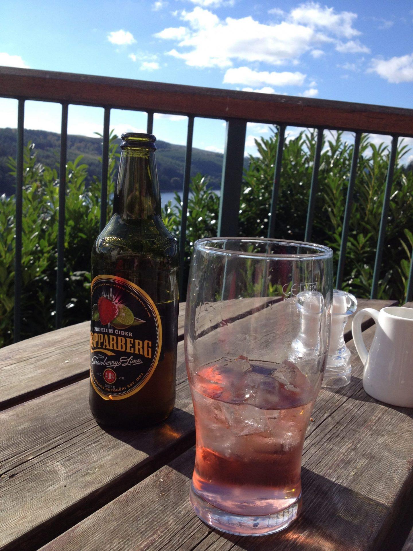 Cider overlooking Lake Vyrnwy, Wales