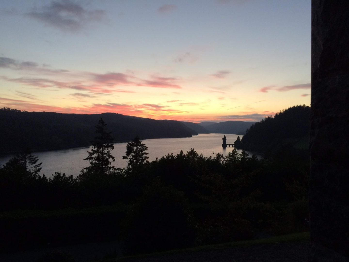 Sunset at Lake Vyrnwy, Wales