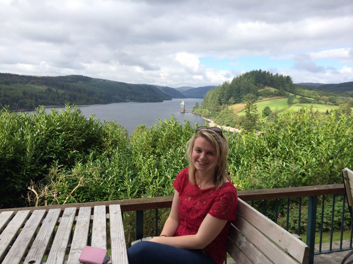 Enjoying the views over Lake Vyrnwy, Wales