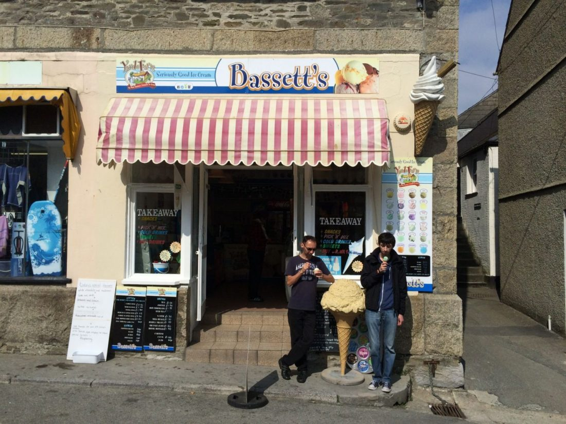 Ice cream shop in Looe, Cornwall