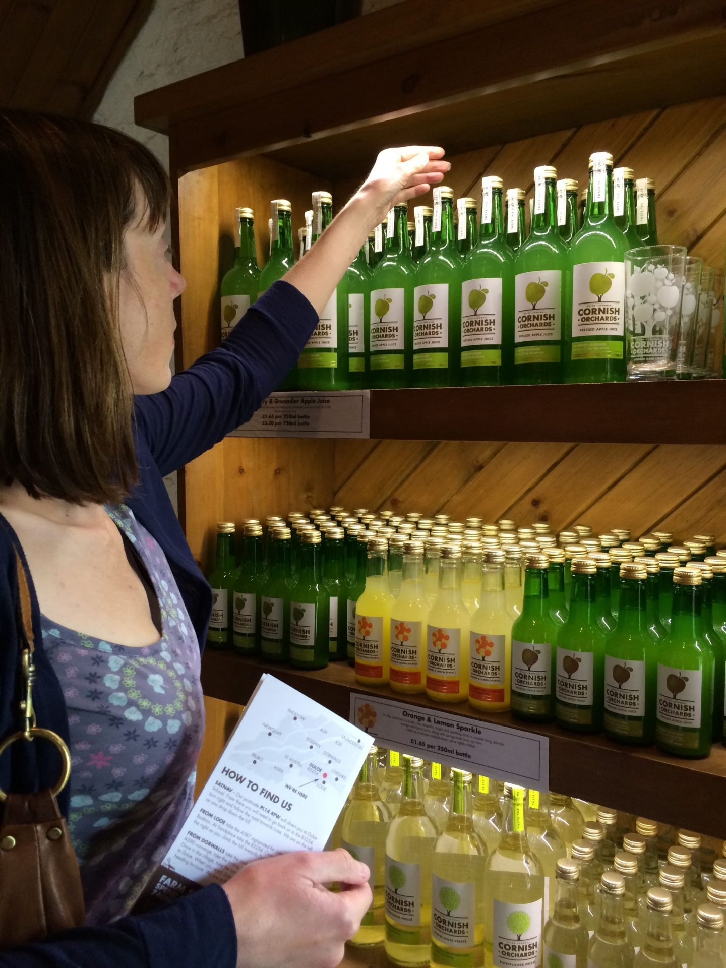 Looking at the range of ciders at Cornish Orchards