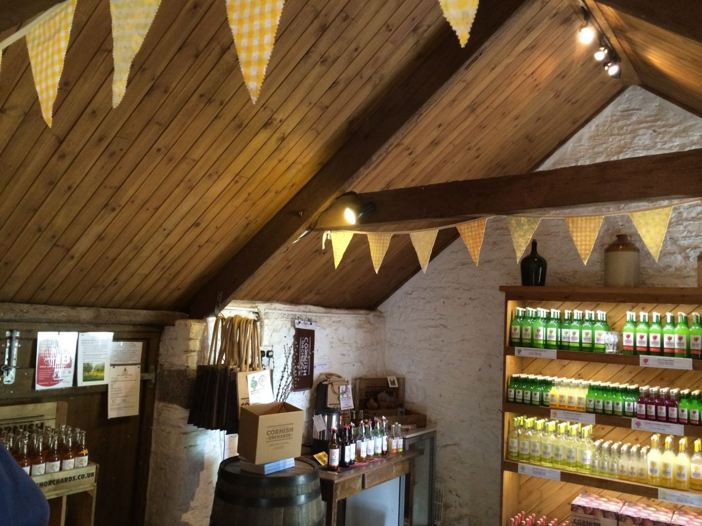 Bunting and decoration at Cornish Orchards