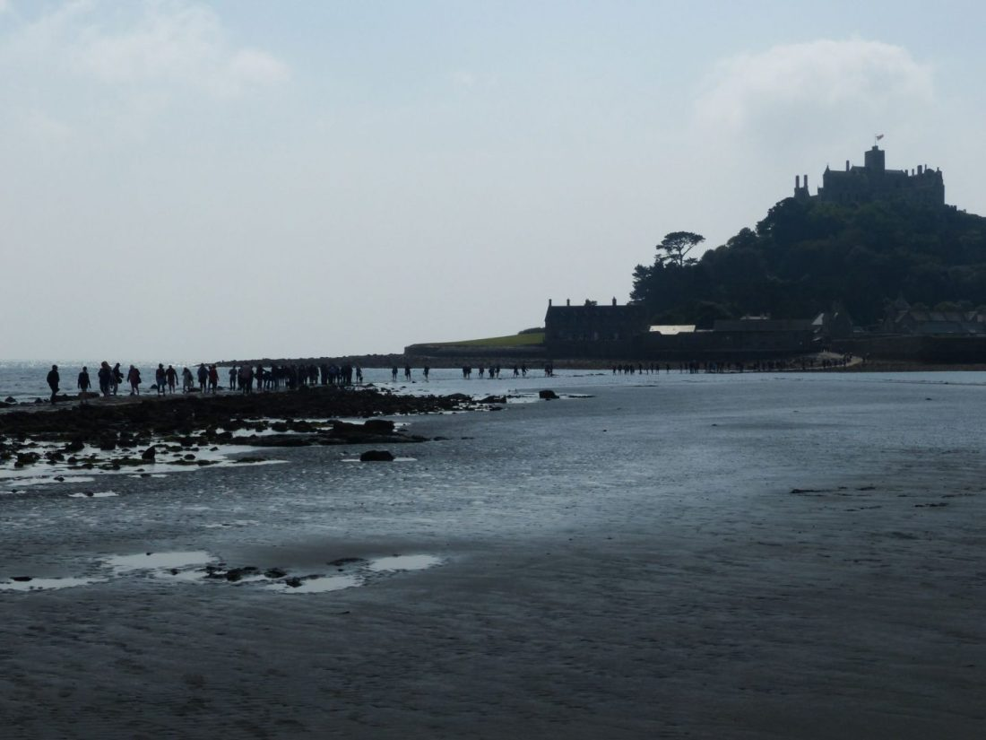 Walking to St Michaels Mount, Cornwall