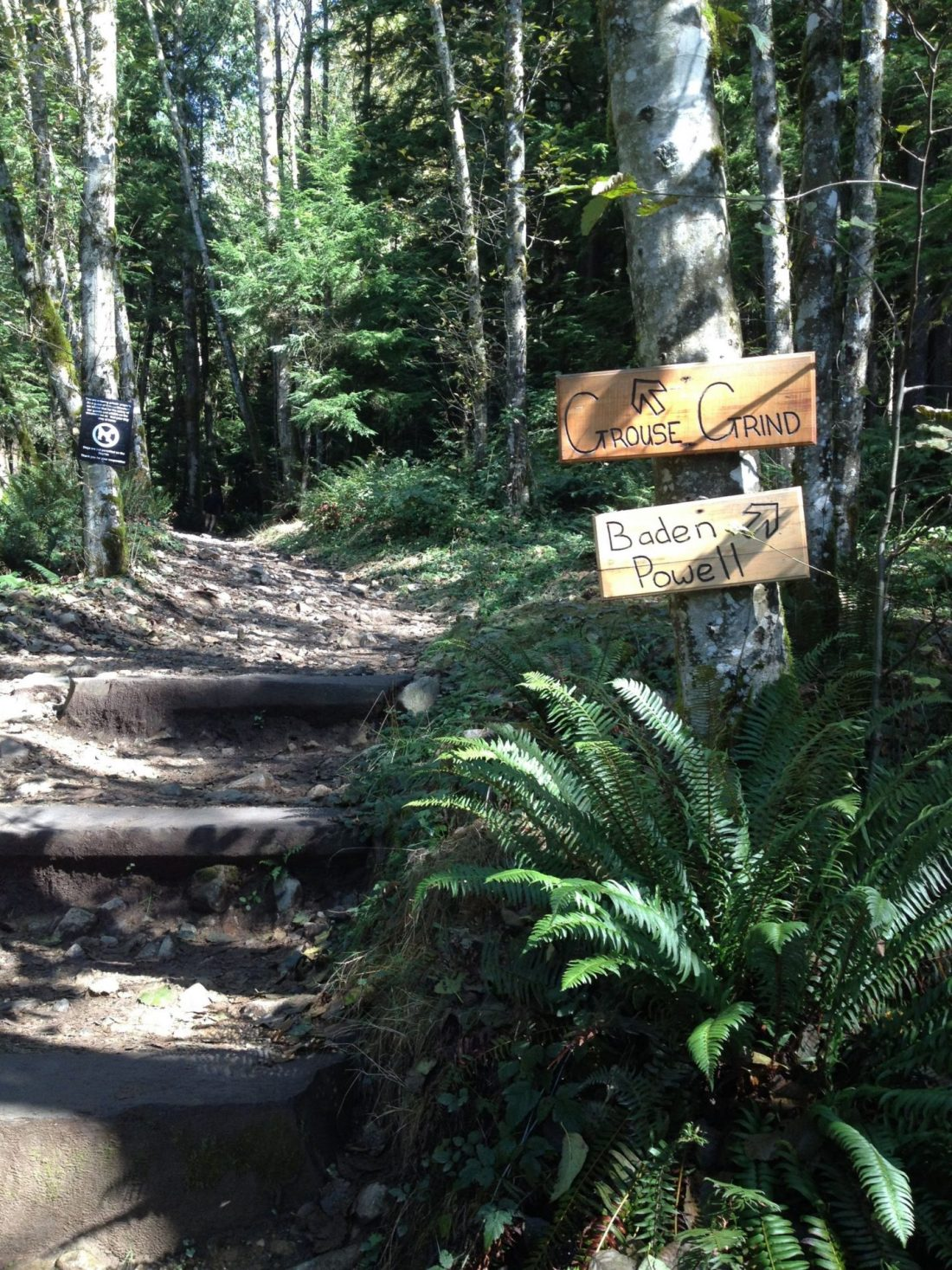 Starting the Grouse Grind, Vancouver