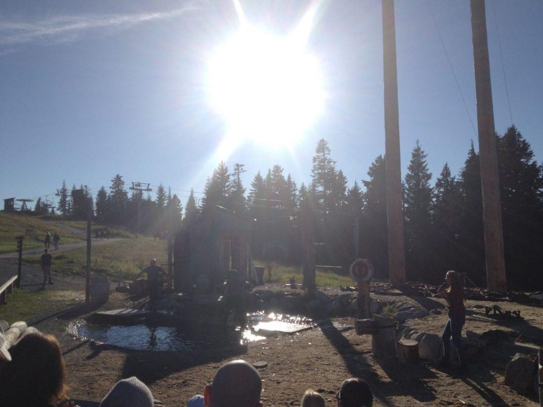 Lumberjack show on the mountain