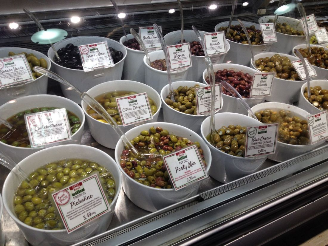 Olives from the Vancouver market