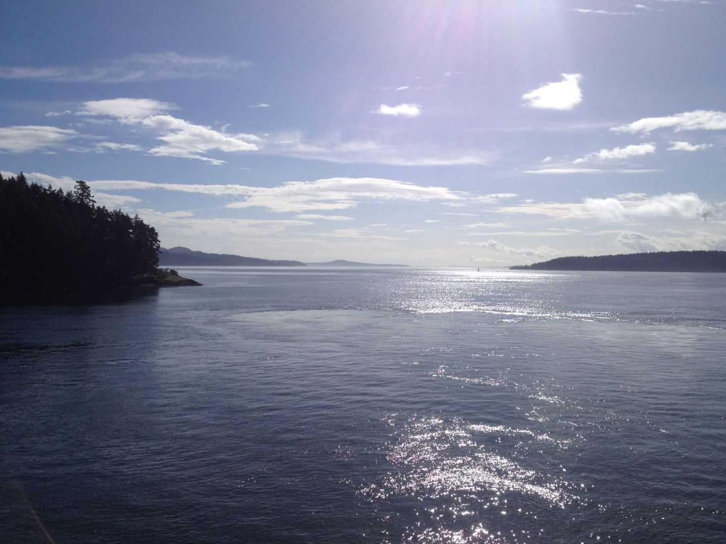 The ferry journey to Salt Spring Island, British Columbia