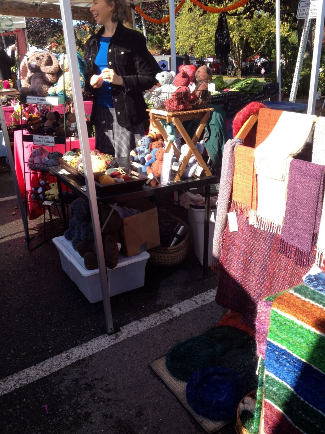 Crafts and arts on sale at the Saturday market on Salt Spring Island