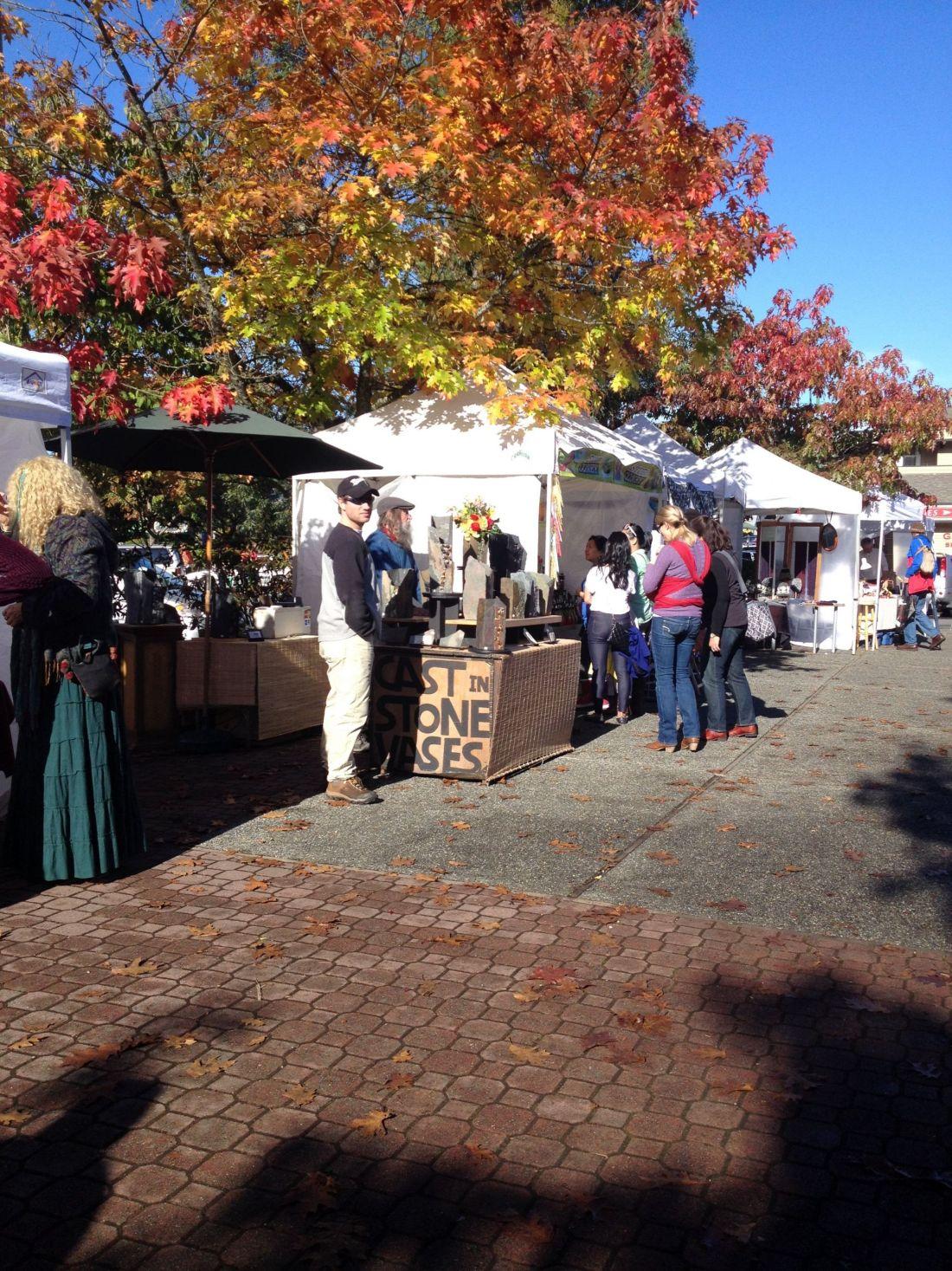The market on Salt Spring Island