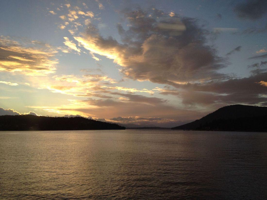 Sunset near the Gulf Islands, British Columbia