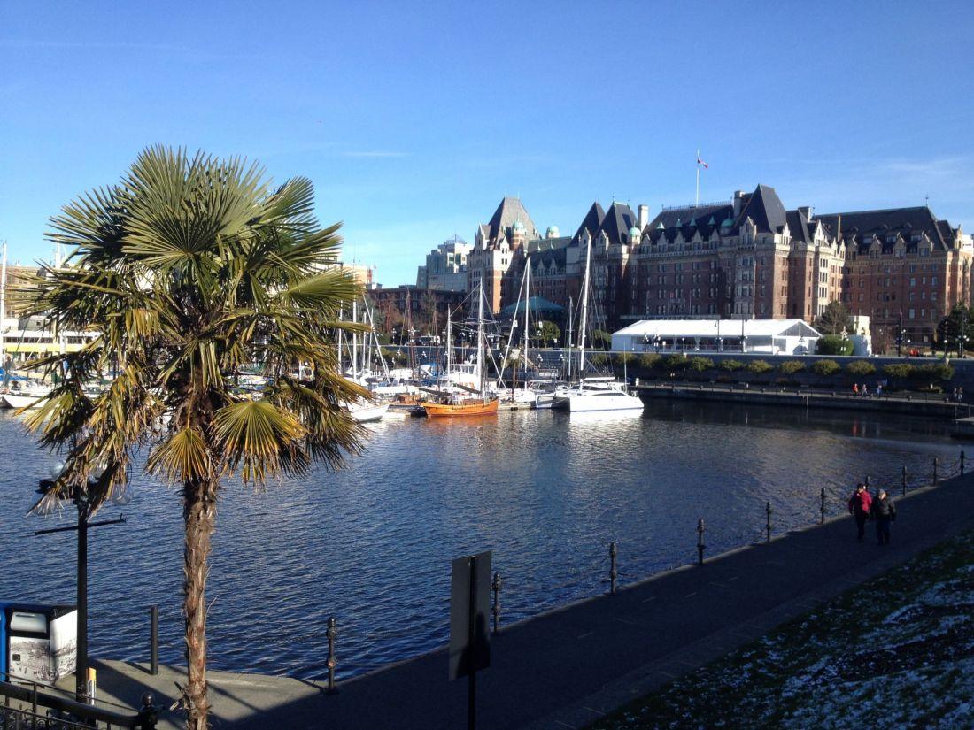 Victoria Harbour in winter