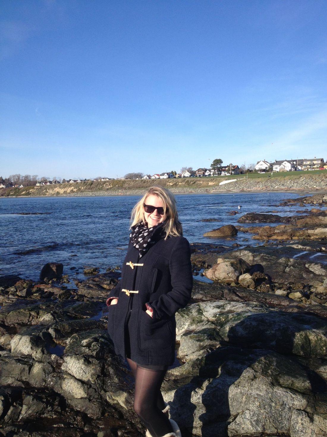 Laura on Steve Fonyo Beach, Victoria