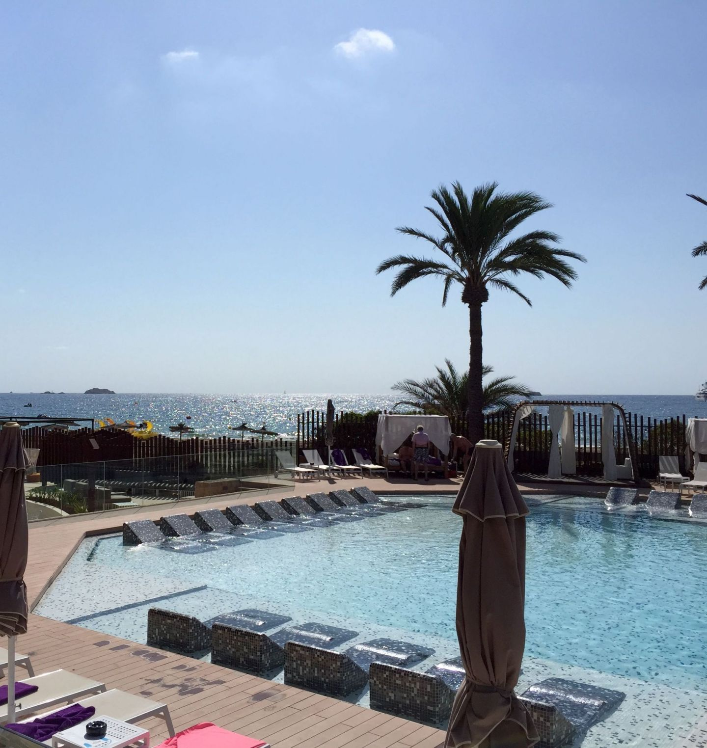 One of the pools at the Hard Rock Hotel Ibiza