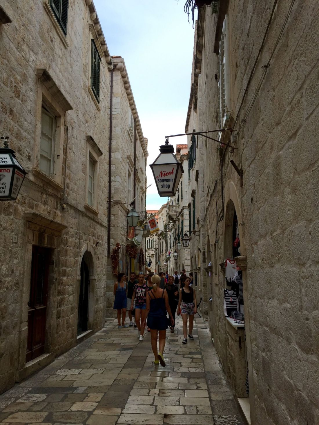 Historic streets of Dubrovnik