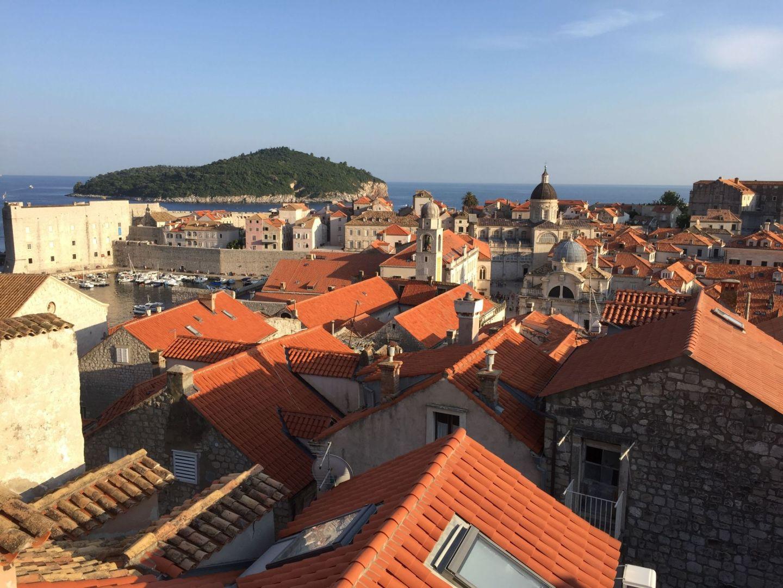 Orange rooftops over Dubrovnik