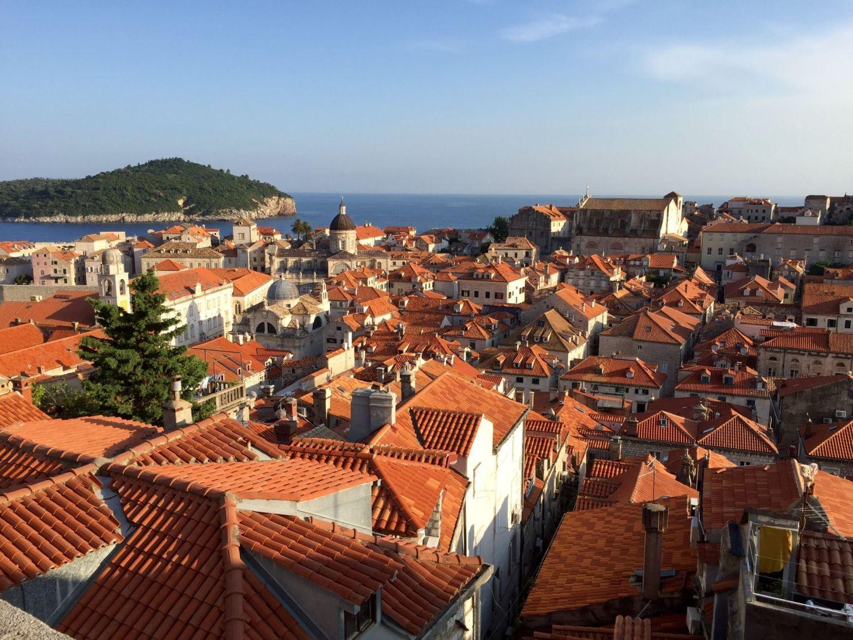 Orange roofs of Dubrovnik, Croatia