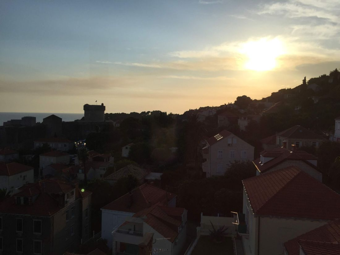 Taking the Dubrovnik Cable Car