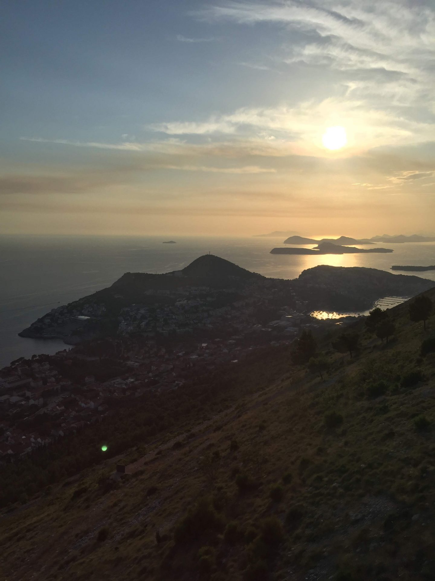 Sunset from Dubrovnik Cable Car