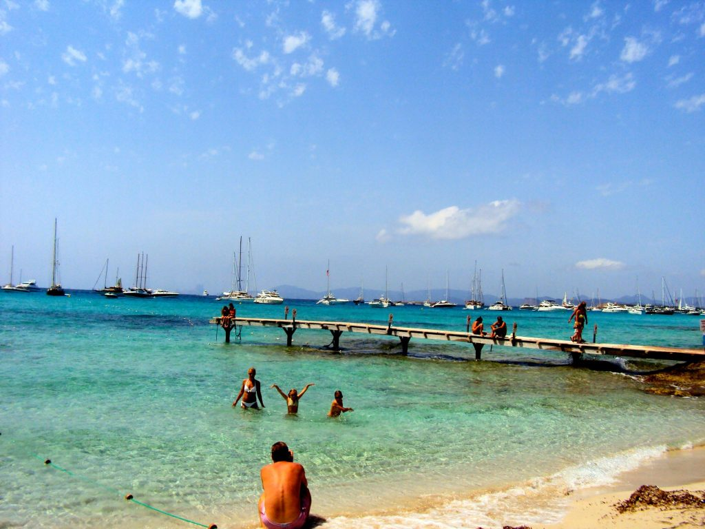 Sailing to Formentera