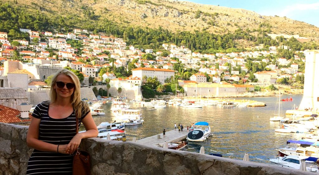 Laura in front of the Old City Harbour