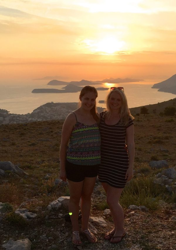 Girls at the top of Dubrovnik Cable Car