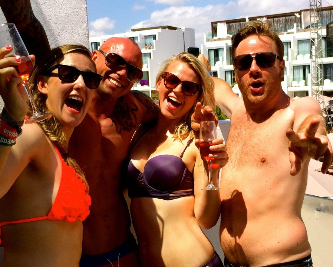 Partying at the Hard Rock Hotel Ibiza