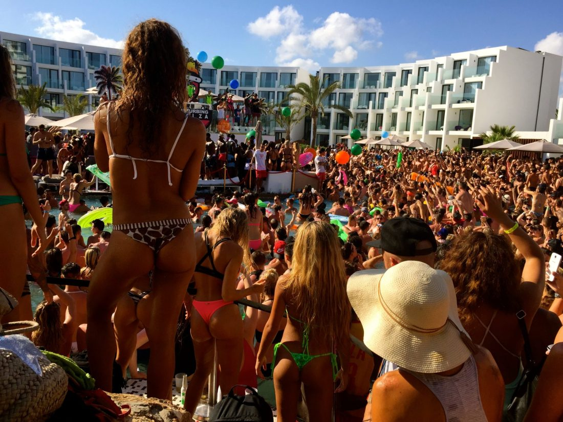 Hard Rock Hotel Ibiza pool party
