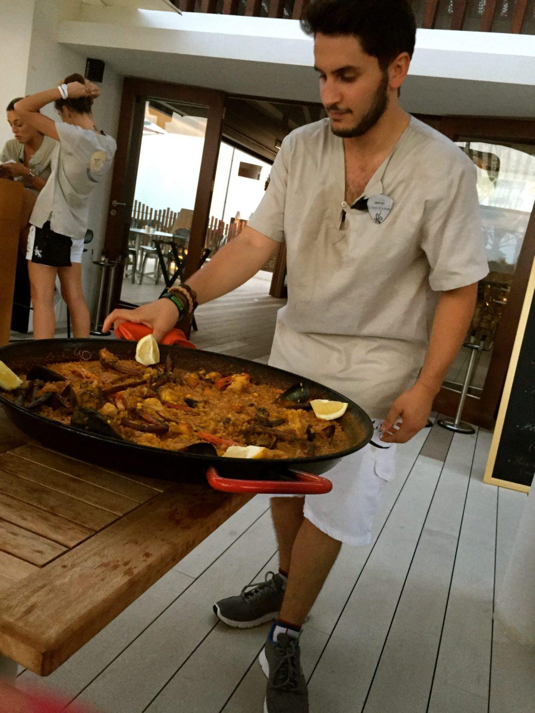 Paella at the Hard Rock Hotel Ibiza's Beach Club