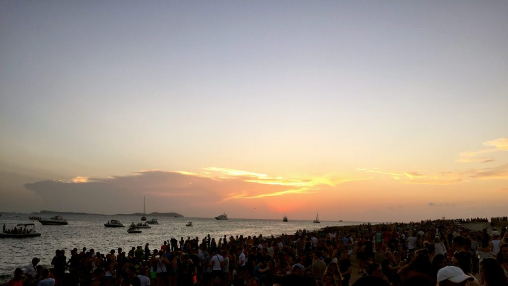 Sunset Strip from Cafe Mambo