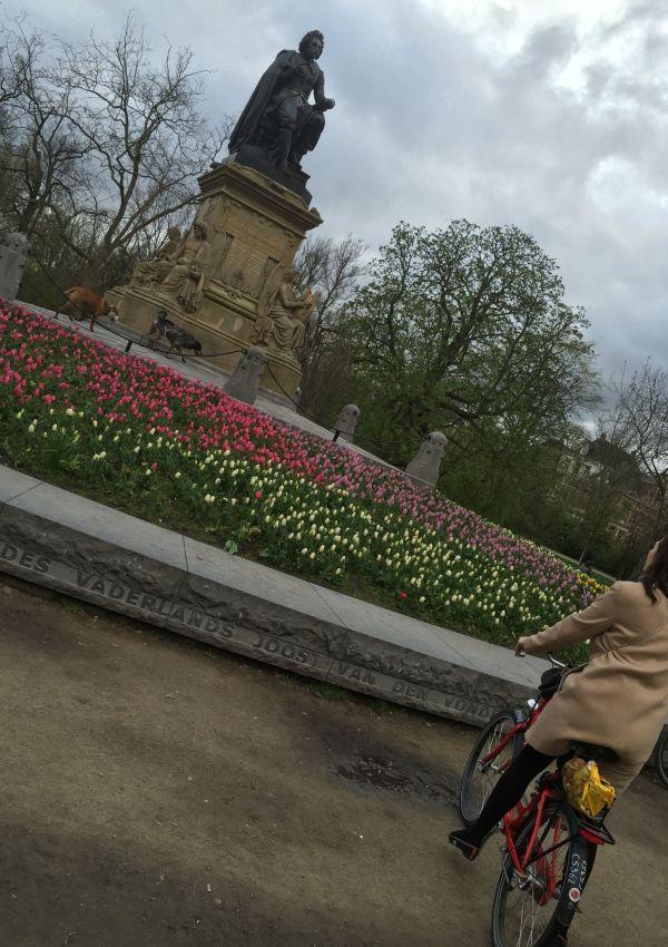 Cycling in Vondelpark, Amsterdam