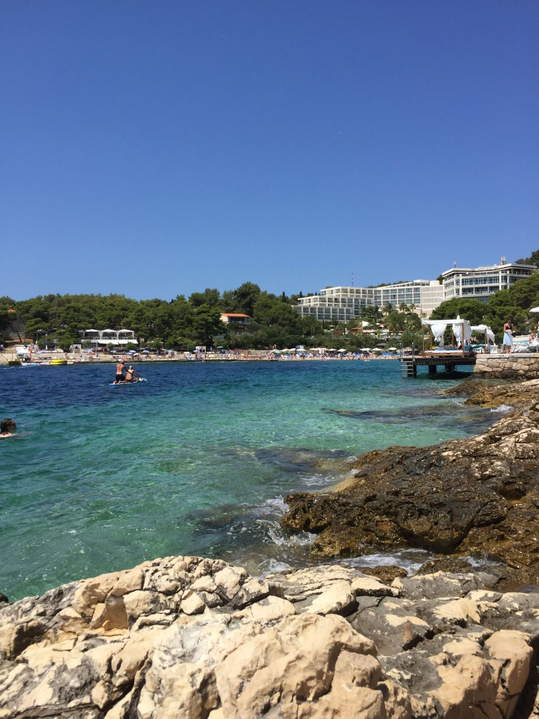 Sunbathing in Croatia