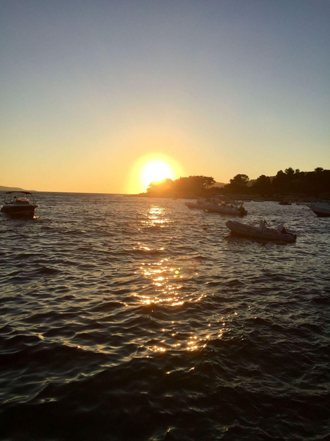 Sunset from Hula Hula Beach Club, Hvar