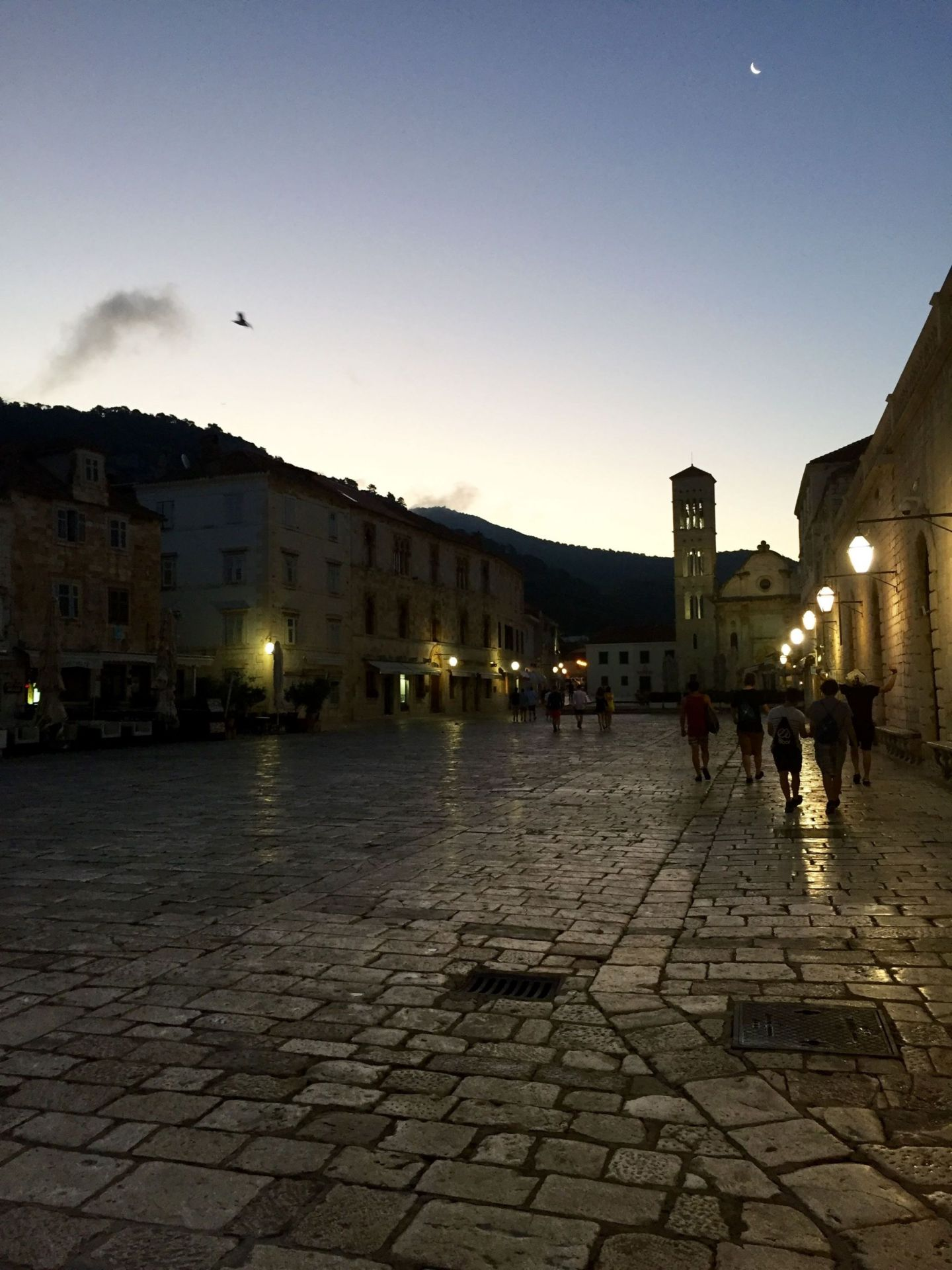 Hvar square at dawn