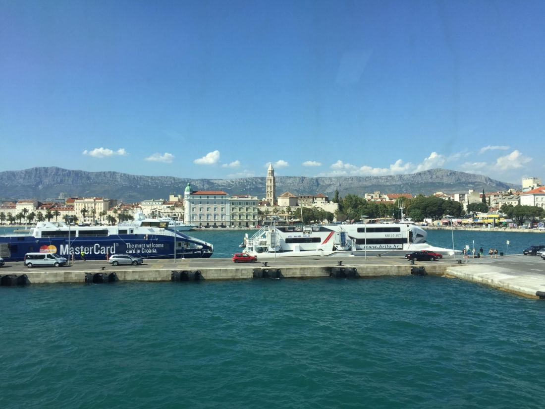 Arriving into Split harbour