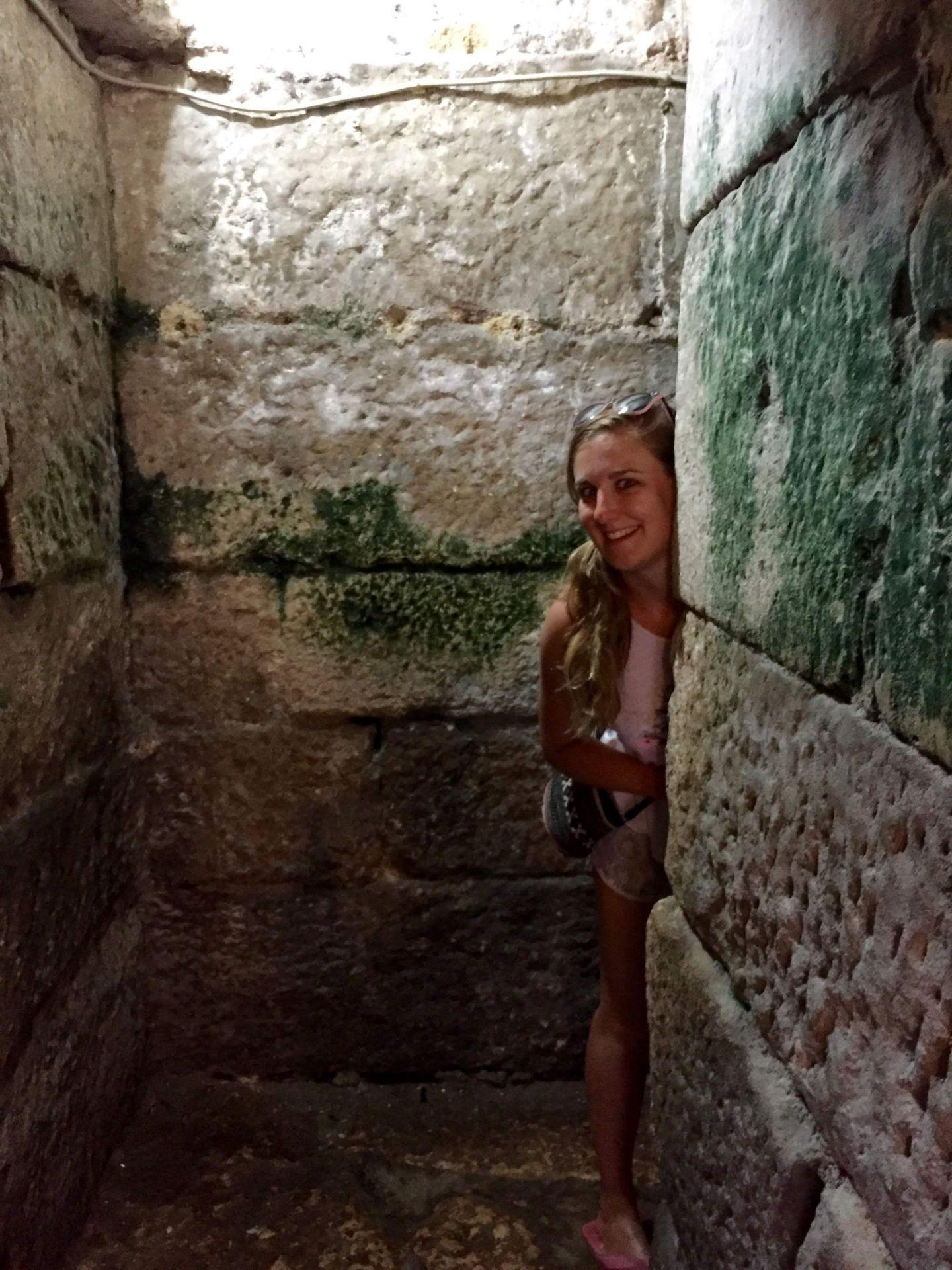 Jo in Diocletian's Palace, Split