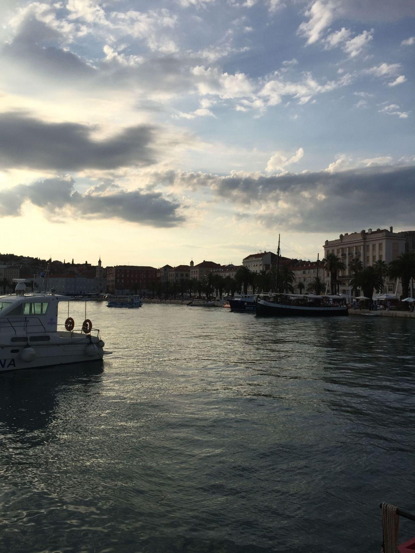 Sunset on Split's Riva, Croatia