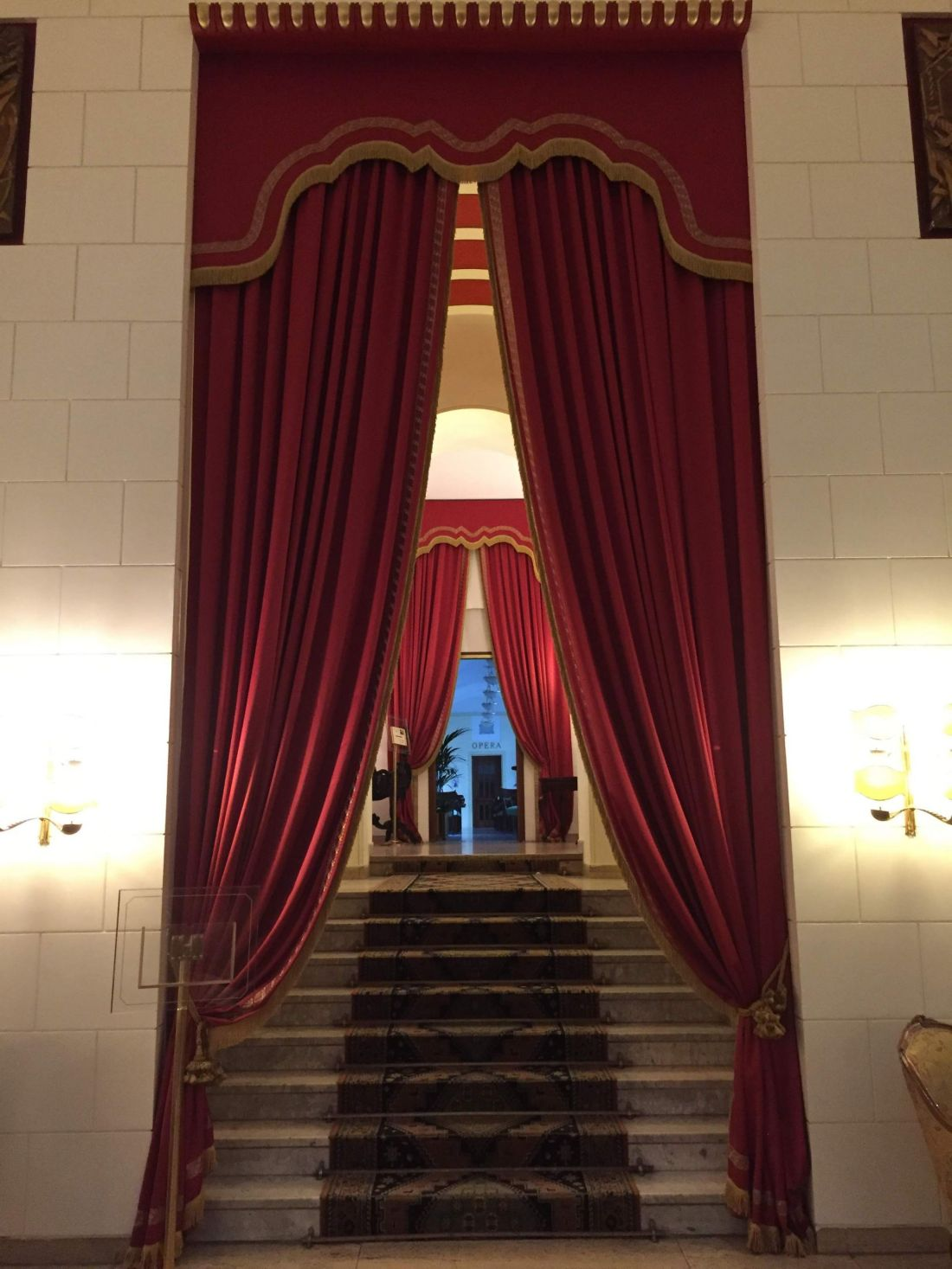 Curtains in Hotel Quirinale, Rome