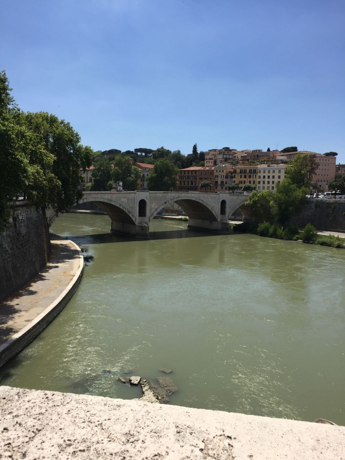 Bridge on the way to Vatican City, Rome