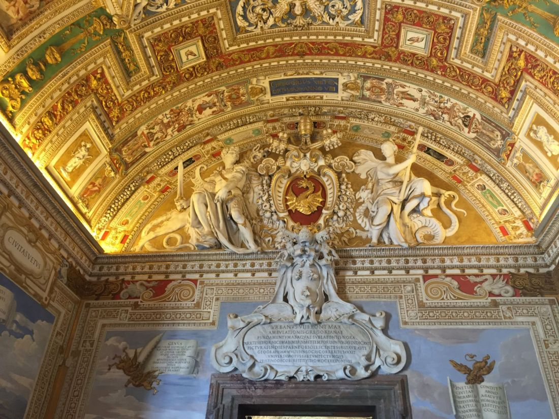Ceiling of Vatican Museum, Rome