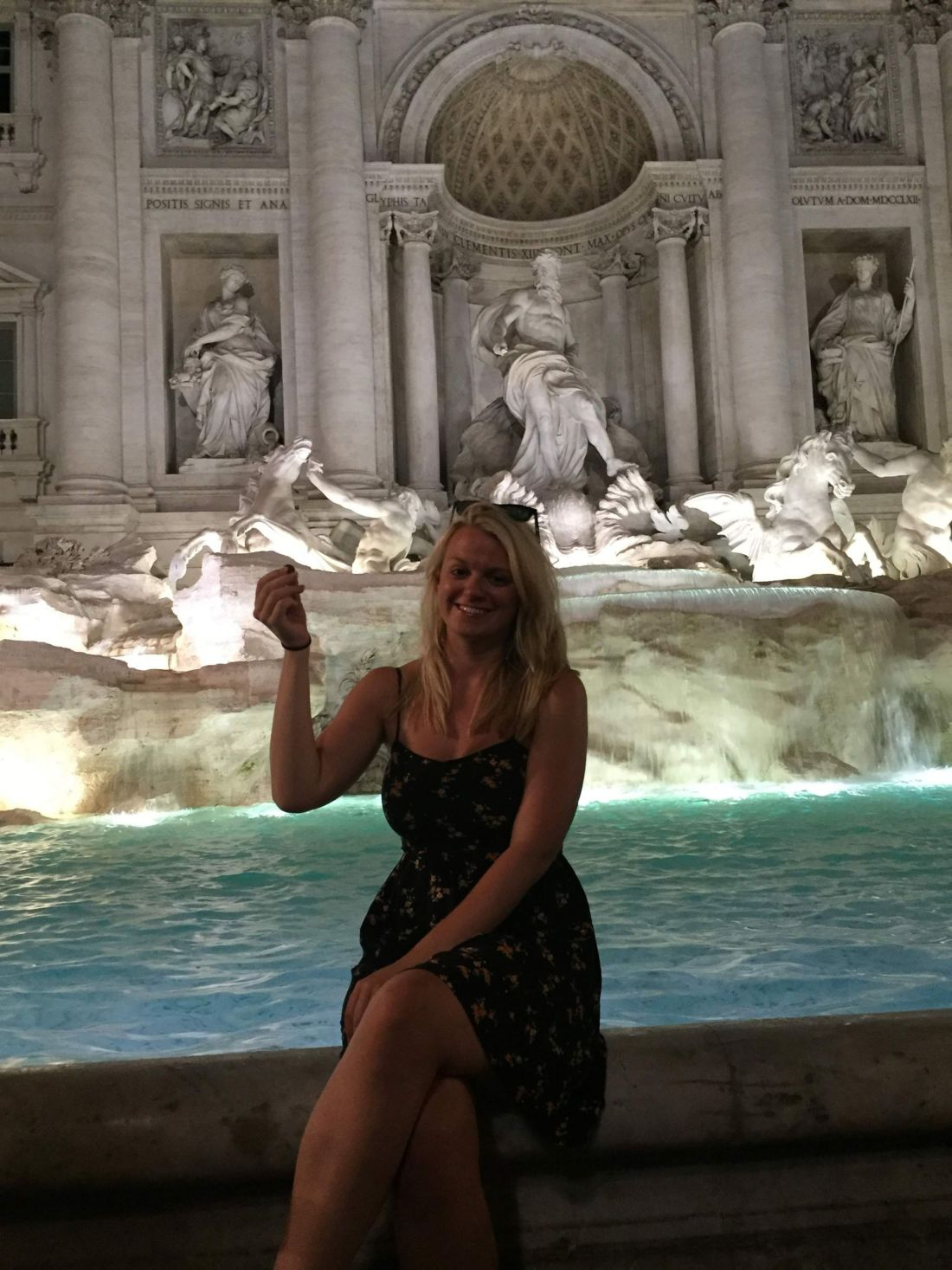 Laura at the Trevi Fountain