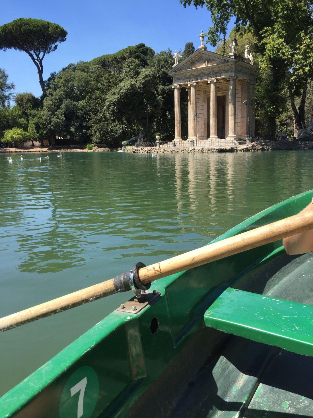 Rowing in Villa Borghese Gardens, Rome