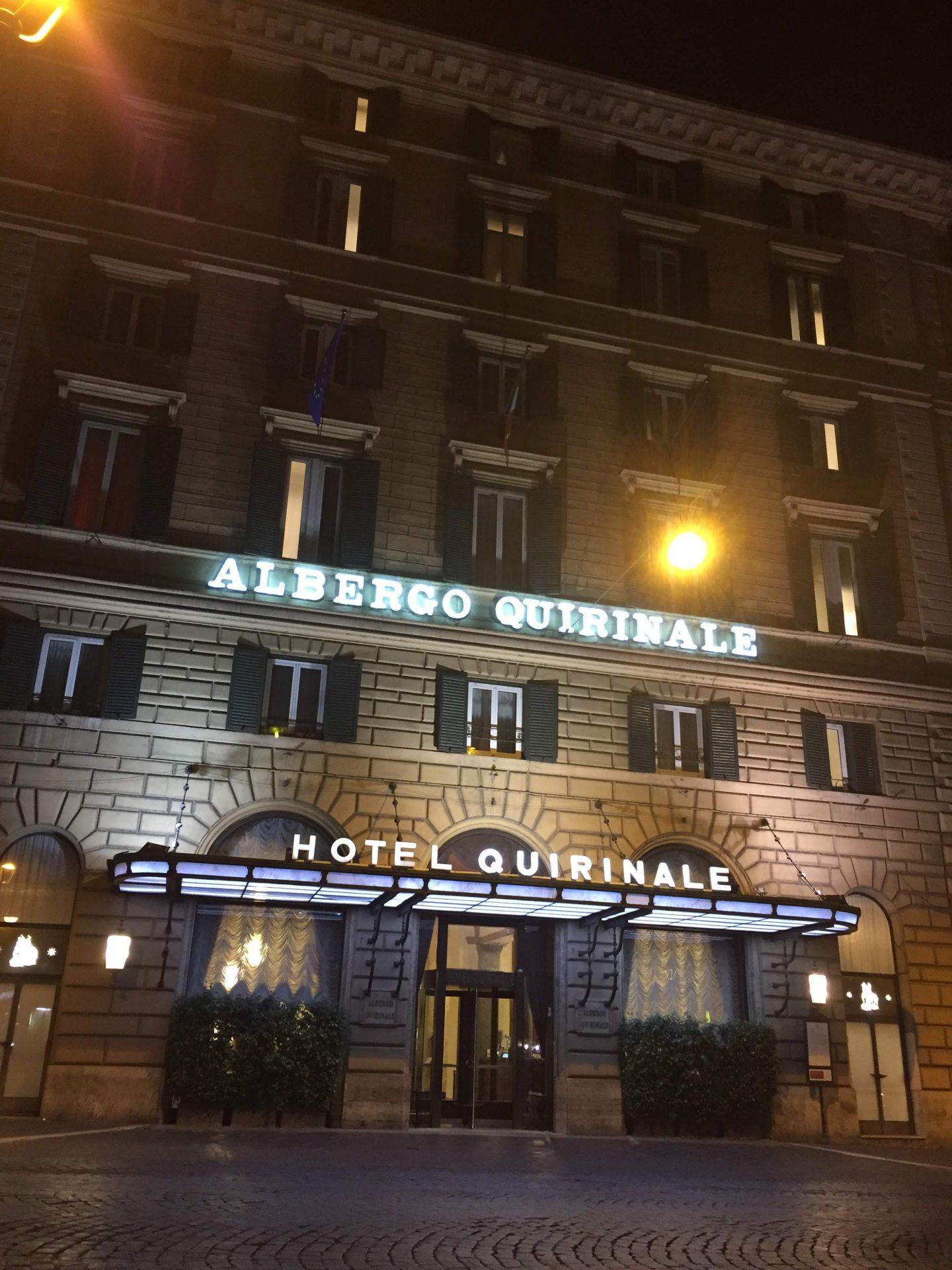 Hotel Quirinale, Rome near the Colosseum
