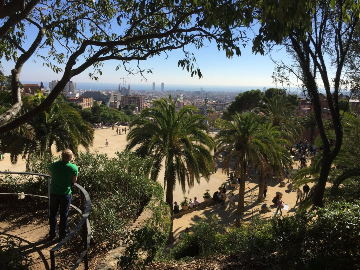 Views over Parc Guell, Barcelona