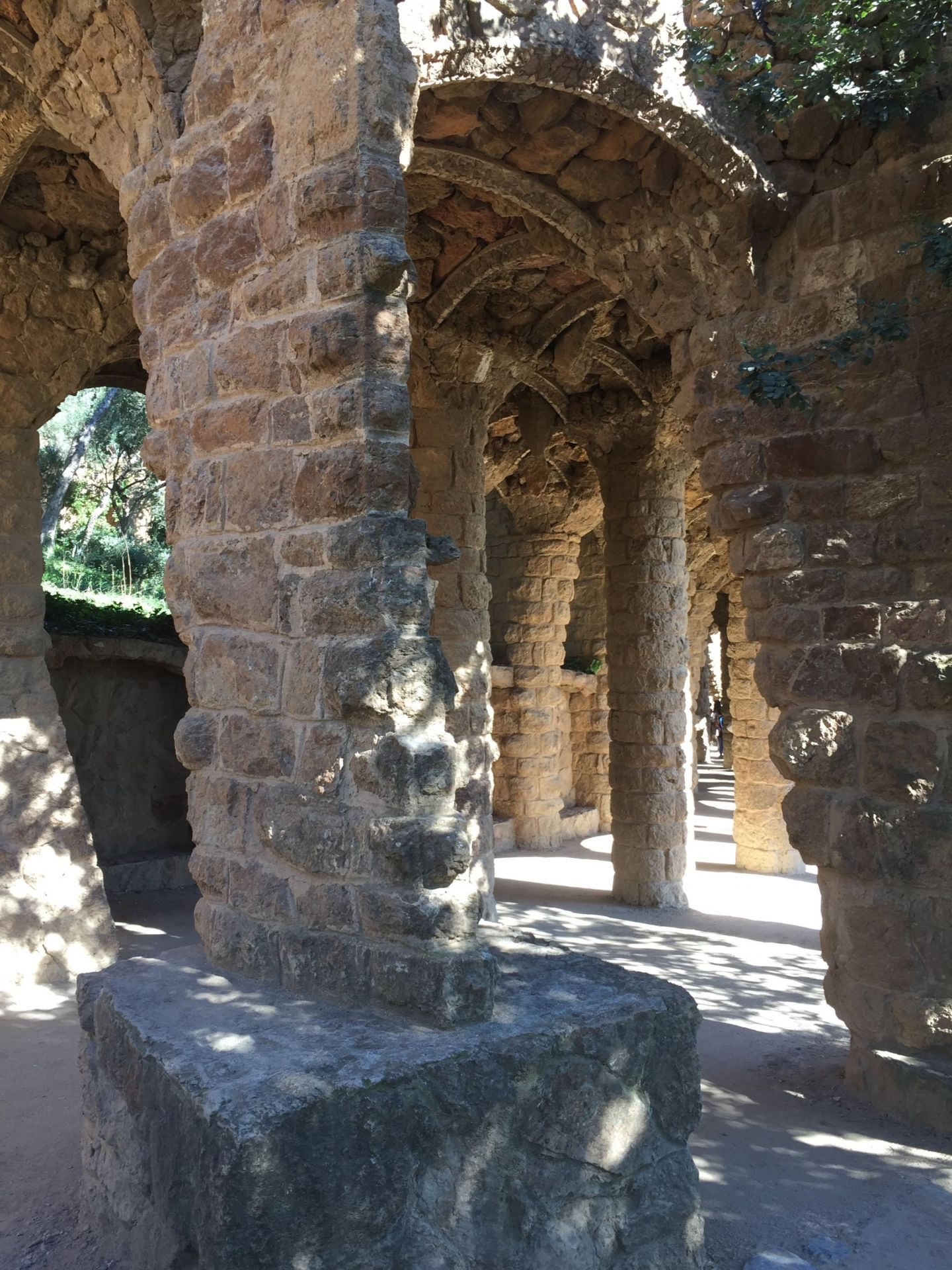 Historic architecture of Parc Guell, Barcelona