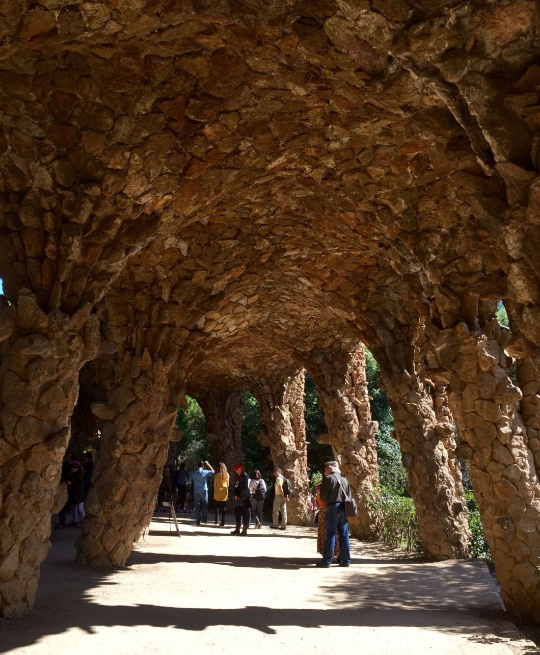 Architecture of Parc Guell, Barcelona
