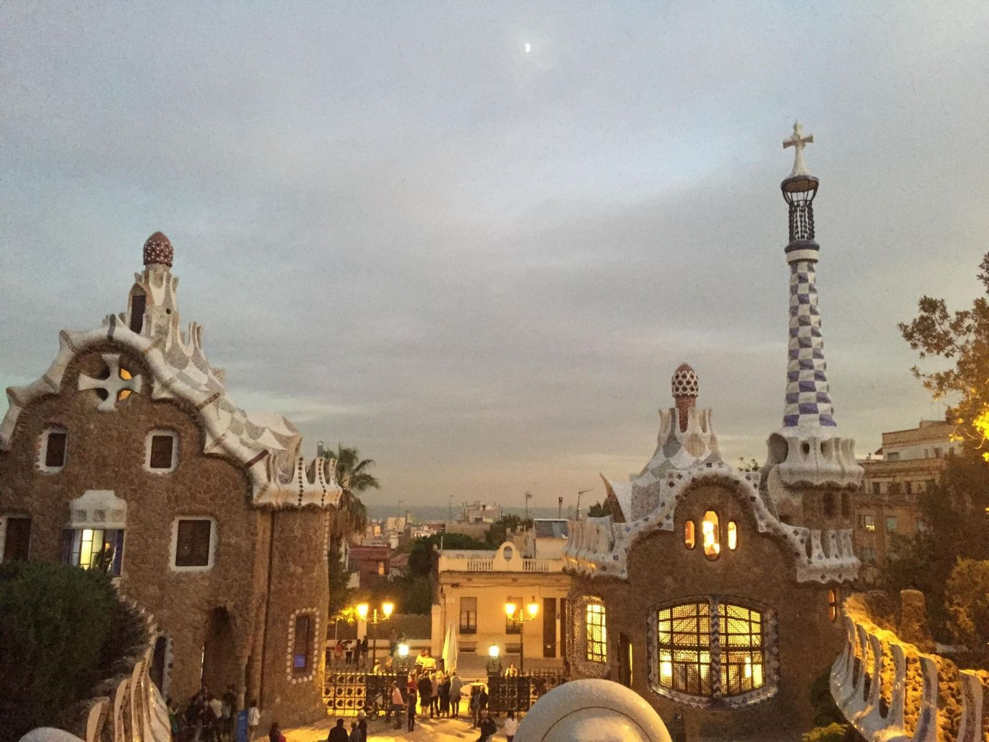 Parc Guell at night, Barcelona
