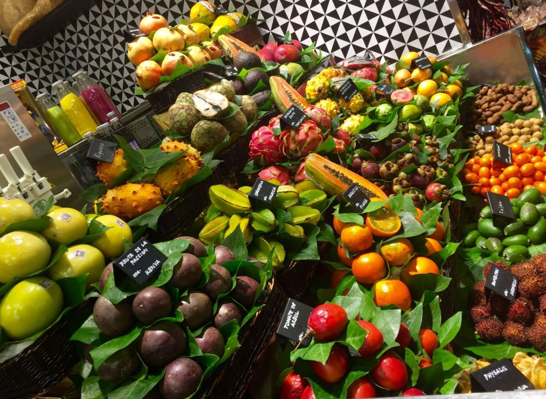 Exotic fruit at La Boqueria, Barcelona