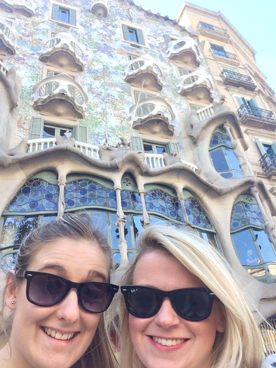 Laura outside Gaudi's Casa Batllo
