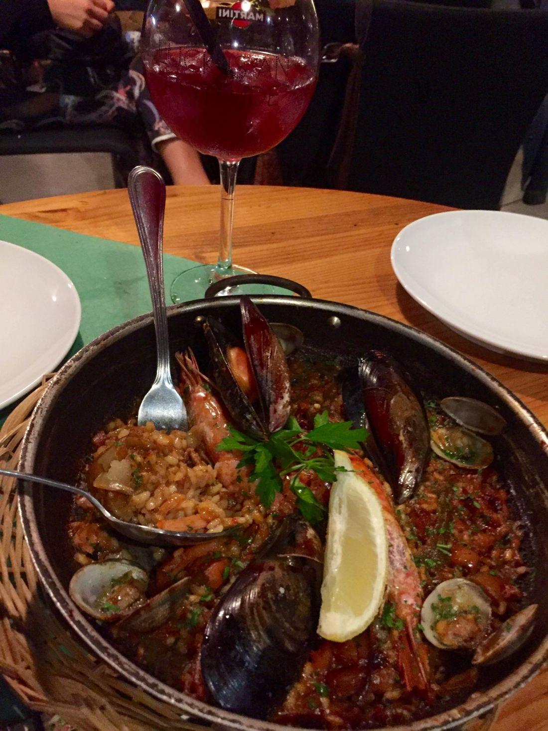 Paella for dinner in Barcelona