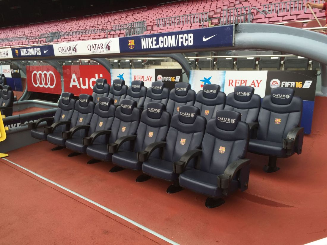 Luxurious seats at Camp Nou